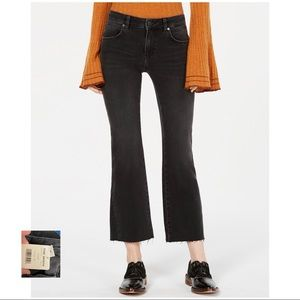 FREE PEOPLE NWT Black Rita Cropped Flare Jeans